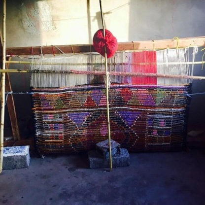 Our friend's family member weaving (photo creds: Kelsie)
